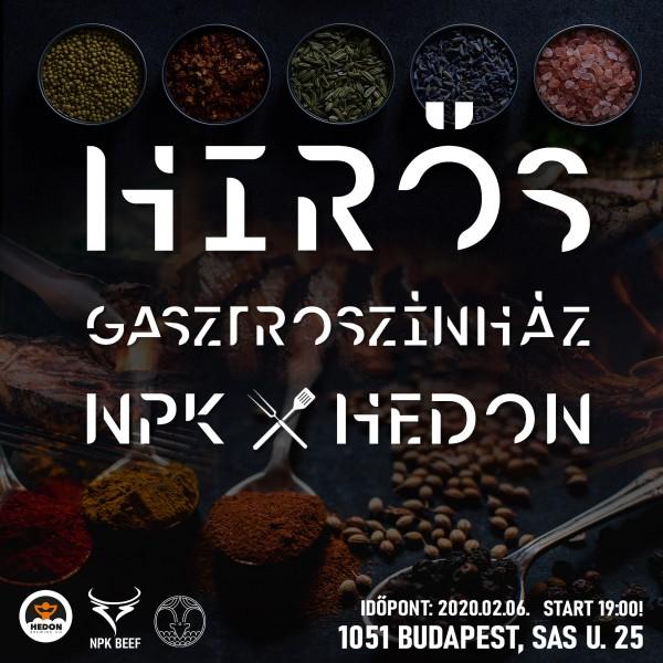 NPK x Hedon - Hírös Gasztroszínház